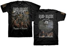 Official Iced Earth  Plagues of Babylon -2014 Dates T-Shirt Get it here: http://www.jsrdirect.com/iced-earth-plagues-babylon-2014-tour-dates-tee