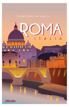 Vintage travel poster Rome Source by Poster City, Poster On, Poster Prints, Vintage Travel Posters, Vintage Postcards, Vintage Ads, Illustrations Vintage, Graphisches Design, Tourism Poster