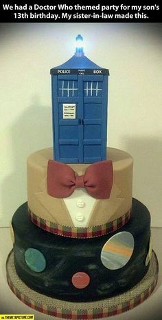 Doctor Who themed party cake