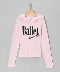 Dancewearables Baby Pink 'Ballet Dance' Hoodie by Dancewearables #zulily #zulilyfinds
