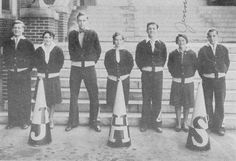 Johnstown, PA High School 1930 Cheerleaders Cheerleading Pictures, Historical Images, Girl Day, True Quotes, Nostalgia, High School, History, Shadows, 1950s