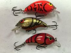 Bandit crankbaits-Red Craw,Brown Fall Craw,Red Spring Craw.