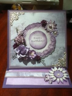 Purple Easel Card