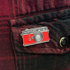 Leica Camera  Red Enamel Pin Badge by TingsByUs on Etsy