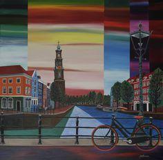 Amsterdam, Westertoren oil painting