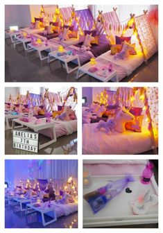 Our beautiful Slumber Party Tent Unicorn Party . Our beautiful Slumber Party Tent Unicorn Party . I recently put together a Unicorn Themed party for my little Slumber Party Birthday, Sleepover Birthday Parties, Girl Sleepover, Unicorn Birthday Parties, Paris Birthday, Bachelorette Parties, Birthday Ideas, 8th Birthday, Teepee Party