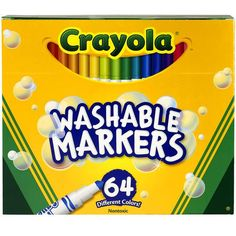 Crayola Pip-Squeaks Skinnies Washable Markers, 64 Count
