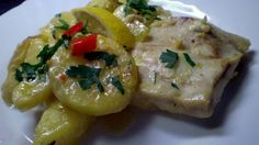 Zapečené rybí filé s brambory a smetanou