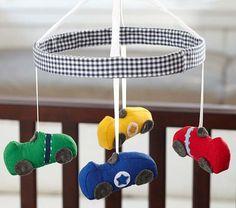 Race Car Crib Mobile | Pottery Barn Kids