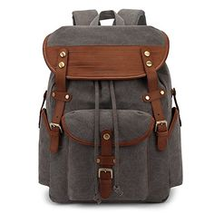 Stylish Camera Backpack for Photographers Vintage Canvas Camera Backpack DSLR Bag Photography Rucksack Hiking Travel Daypack for Cameras//Lens//Tablet//15-inch Laptop Trendy Fashion Anti-Theft DSLR SLR