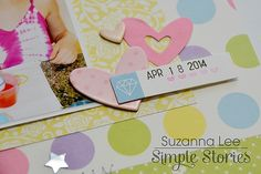 Layout close up by design team member Suzanna Lee