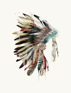 The Headdress Art Print by Bri Buckley. All prints are professionally printed, packaged, and shipped within 3 - 4 business days. Choose from multiple sizes and hundreds of frame and mat options. Indian Headdress Tattoo, Indian Headress, Indian Feather Tattoos, Native American Headdress, Native American Decor, Feather Art, Southwest Art, Art Graphique, Canvas Prints