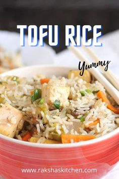 Best Lunch Recipes, Tofu Recipes, Breakfast Recipes, Healthy Recipes, One Pot Meals, Easy Meals, Vegetable Rice, India Food, Lean Protein