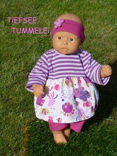 """Puppenkleidung - """"TiefseeTummelei"""" 3tlg Set Gr.35-40cm - ein Designerstück von handgeschick bei DaWanda"""