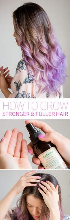 Grow your hair longer & faster! Massage Just Natural hair treatment on to scalp with fingers. Leave for 2-3 hours, then wash off.