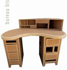 Bureau Dangle Avec Rangements Carton Brut DIY projects to try