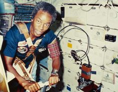 70th anniversary of the US Air Force - As part of the crew of Challenger space shuttle on mission STS-8, Lt. Col. Guion Bluford became the first African-American to fly into space on Aug. 30, 1983. The mission, which ended on Sept. 5, also saw the first night launch and night landing of a space shuttle.