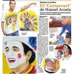 """#TBT⏳🔙⏰ El TBT de hoy es a cargo de la nota bacana que @gente_norte le hizo a nuestro """"CARNAVART"""" el año pasado. 🎨Autor de Carnavart: @hanselgonzaleza #Carnavart #Barranquilla #BarranquillaLovers #Curramba #Quilla #LaArenosa #ArteColombiano #Colombia #Colombian #Colombiarte #Artes #Arte #HechoAMano #HechoEnColombia #PintadoAMano #CamisasDeCarnaval #PintaCarnavalera #CamisasPersonalizadas #CarnavalDeBarranquilla #MadeInColombia #Marimonda #Marimondas #BarranquillaColombia #SomosCarnaval…"""