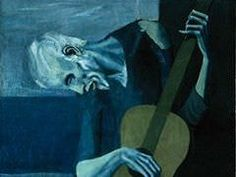 """""""The Old Guitarist""""  #Picasso #ILoveArt #LoveThisPainting"""