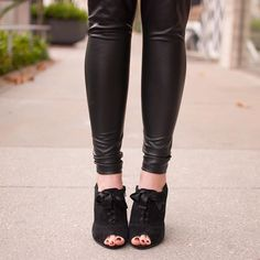 These little black lace up beauties along with the full outfit reveal will be on the blog later this week, but I wanted to give you a sneak peek.  #shoesdaytuesday