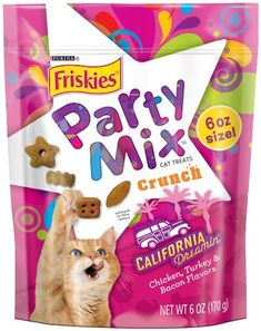 Friskies Party Mix Cat Treats Mixed Grill Crunch Chicken Beef Salmon Flavors Pouch Pack of 10 *** Check out this great product. (This is an affiliate link) Cat Food Coupons, Purina Friskies, Mixed Grill, Food Recalls, Cat Shedding, Cat Fleas, Party Mix, Cat Supplies, Cat Health
