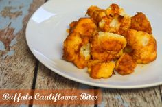 Here's an easy and delicious recipe for Buffalo Cauliflower Bites. It's a healthier alternative to wings. #Recipe #Vegan #GlutenFree #Vegetarian #paleo donnahup