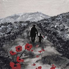 My Knight In Body Armour by Jacqueline Hurley ~ Limited Edition Signed Giclée Print ~ War Poppy Collection Remembrance Art Original Artwork, Original Paintings, Oil Paintings, Remembrance Day Poppy, War Tattoo, Anzac Day, Hurley, Art Reproductions, Giclee Print