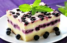 Recept : Tvarohový koláč s borůvkami   ReceptyOnLine.cz - kuchařka, recepty a inspirace