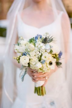 Blue Wedding Bouquet Ideas | Visit stylemepretty.com