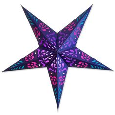 Purple Hypnotic Star Lantern
