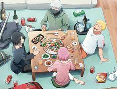 pinterest || ☽ @kellylovesosa ☾Imagined something like this. Team 7 Naruto