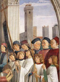Domenico Ghirlandaio (1449 -1494) ~  Obsequies of St Fina (detail) ~ 1473/75 ~  Fresco ~ Colleggiata, San Gimignano