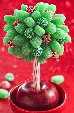 Miniature Candy Topiary How-To