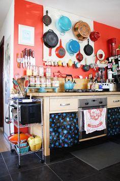 colorful vintage kitchen