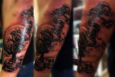 Skull Tattoo By Angelo @ Rising Dragon Tattoo. Fourways. Johannesburg. joburgink@gmail.com, 0114677350