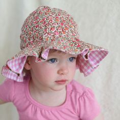 Perfect Picnic Baby and Toddler Girl Sun Hat Baby Sun Hat, Baby Hats, Little Girl Dresses, Little Girls, Girls Dresses, Girl With Hat, Boy Or Girl, Sun Hats For Women, Summer Baby