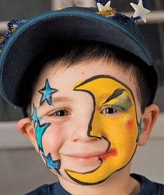 Face paint moon/stars
