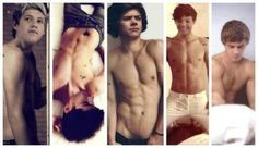 One Direction - Niall Horan, Zayn Malik, Liam Payne, Harry Styles and Louis Tomlinson - Shirtless - hot