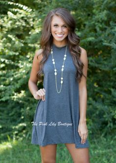 The Pink Lily Boutique - Worth Fighting For Charcoal Dress , $32.00 (http://thepinklilyboutique.com/worth-fighting-for-charcoal-dress/)