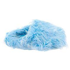 Light Blue Fuzzy Slippers for Women