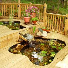 Simple Tips For Garden Ponds and Water Features In you have a pond in your garden, make sure you maintain it throughout the year. In order to keep a pond healthy, you need to ensure that the water is clear and that plants do not take Dream Garden, Home And Garden, Porch Garden, Ponds Backyard, Patio Pond, Garden Ponds, Backyard Ideas, Patio Ideas, Fountain Garden