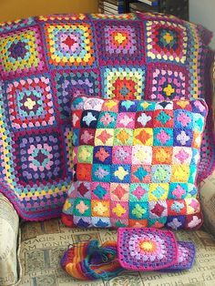 lots of granny squares