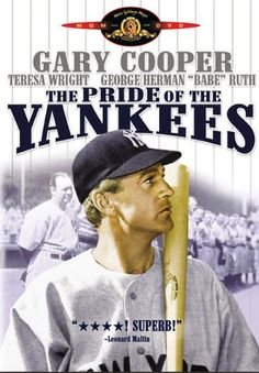 Not so much a baseball movie, as it was a love story between Cooper's Gehrig, and Theresa Wright as his wife.  When Gary Cooper was cast for the role, he knew absolutely nothing about the game.