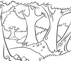 Trees coloring pages printable games Forest Coloring Pages, Tree Coloring Page, Colouring, How To Draw Wood, Princess Mural, Wizard Of Oz Play, Christmas Lights Wallpaper, Forest Background, Free Hd Wallpapers