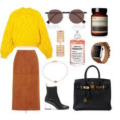 Style #69 by elisabethiskandar on Polyvore featuring polyvore, fashion, style, Delpozo, The Row, Gucci, Hermès, Repossi, Ileana Makri, Fendi, Maison Margiela and Aesop