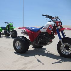 1987 Kawasaki Tecate 3 and 1985 Honda 350x...Two great ATC's.