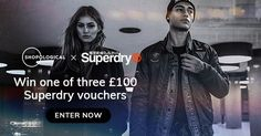 Shopological is giving away three three £100 Superdry vouchers. I've entered and you should try your luck too!