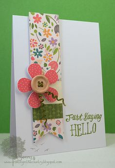 Bright Side Petite Paper Pack, Grand Greetings  Saying Hello by Jenny M2011, via Flickr