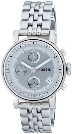 #Fossil #Watch , Fossil Women's ES2198 Stainless Steel Bracelet Silver Analog Dial Multifunction Watch