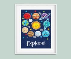 Space Nursery, Nursery Wall Art, Space Print, Nursery Print, Space Wall Art, Boys Nursery Wall Art, Boys Nursery, Space Nursery Art, Prints